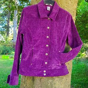 Hannah purple corduroy jacket